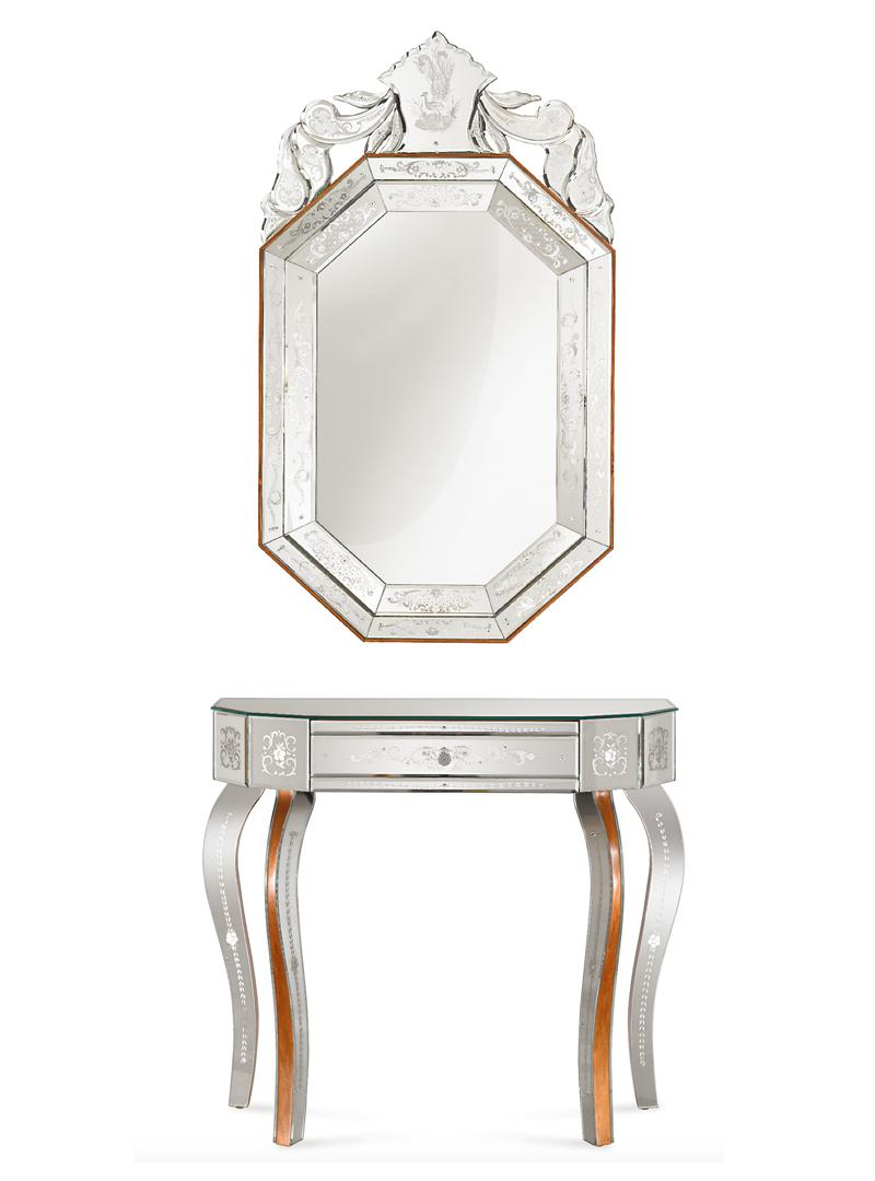 Pavone Mirror and Toniolo console